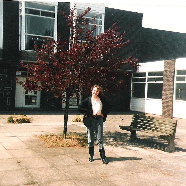 Moi, devant la Upper School, Wolfreton