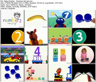 Baby Einstein Numbers Nursery Dvdrip Xvid