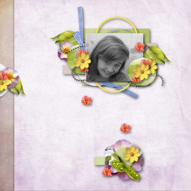 kit sweet flowers collab cajoline simplette page scrapangie