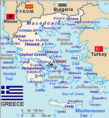 map of Greece 2007