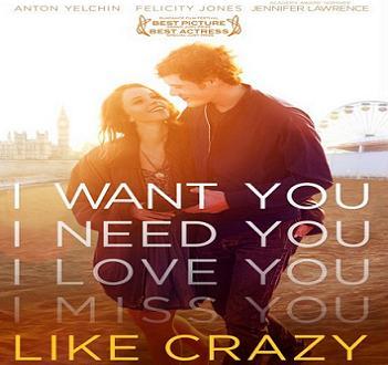 بإنفراد فيلم Like Crazy 2011 DVDscr مترجم - دي في دي