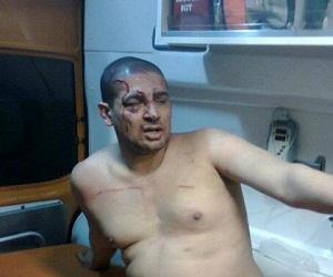 بالصور الإعتداء على محمد ابو حامد من الإخوان في صلاح سالم