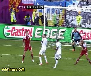 البرتغال X الدانمارك 3-2 مشاهدة أهداف المباراة يورو 2012