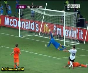 المانيا  X هولندا 2-1 مشاهدة أهداف المباراة يورو 2012