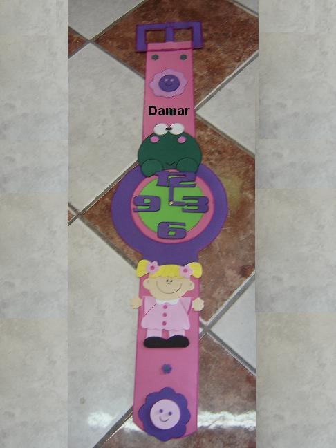 Como hacer un reloj con fomy - Imagui