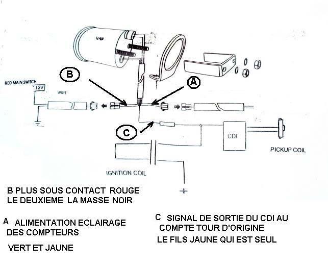 compte tours sch ma lectrique suzuki airhuile. Black Bedroom Furniture Sets. Home Design Ideas