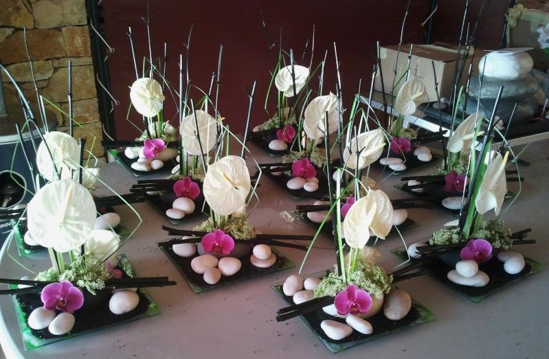 decoration mariage zen bambou