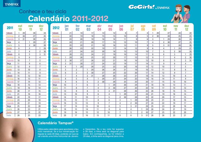 Calendario Menstrual 2016 Para Imprimir | Calendar Template 2016