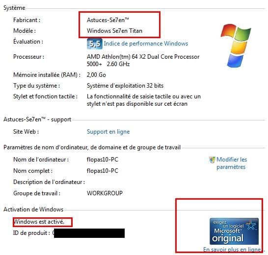 comment savoir si windows 7 est authentique