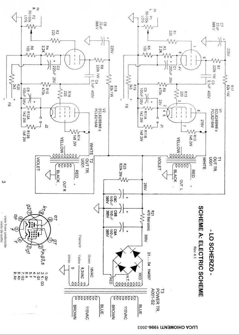 Schema Elettrico Amplificatore Valvolare Per Chitarra : Semplificare un ampli valvolare si può pagina