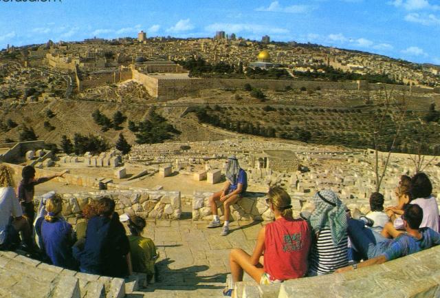 Au pied du monts des Oliviers, regardant vers Jérusalem