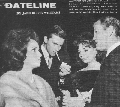 Lynn Loring, Andrew Prine, Karyn Kupcinet et Earl Holliman