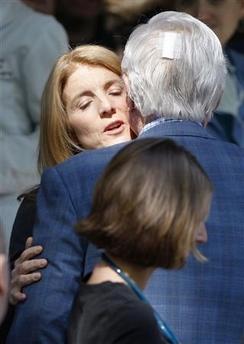 Ted Kennedy avec sa nièce Caroline