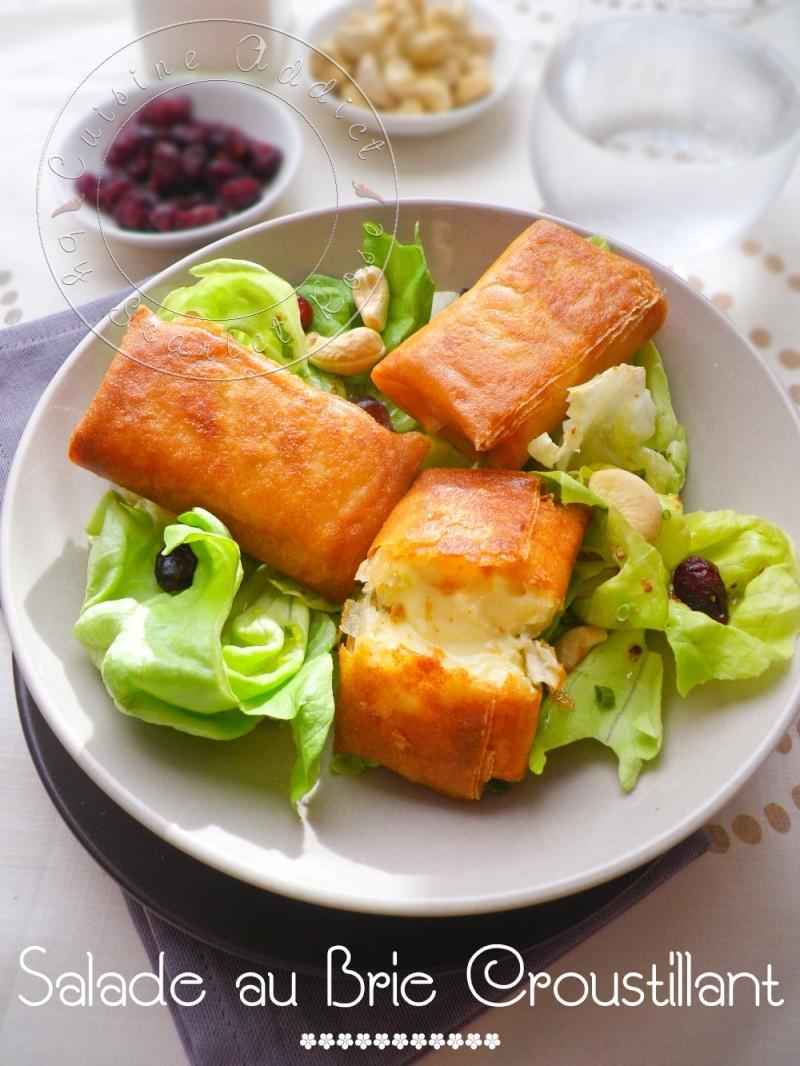 ma salade de bri brick croustillants de brie en feuille de brick blogs de cuisine. Black Bedroom Furniture Sets. Home Design Ideas