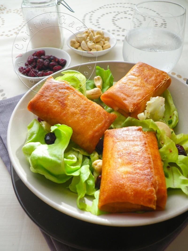 Ma salade de bri brick croustillants de brie en feuille de brick blogs de cuisine - Feuille de cuisine ...