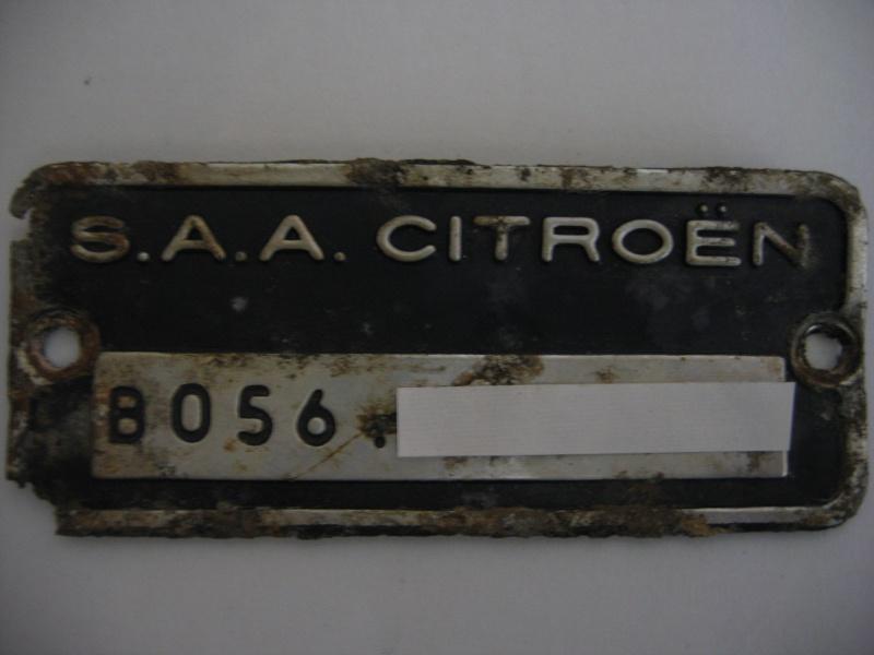 mehari club de france afficher le sujet plaque d 39 identification. Black Bedroom Furniture Sets. Home Design Ideas