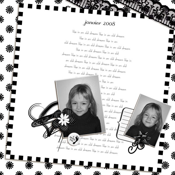 kit old dreams in black and white simplette page niconat