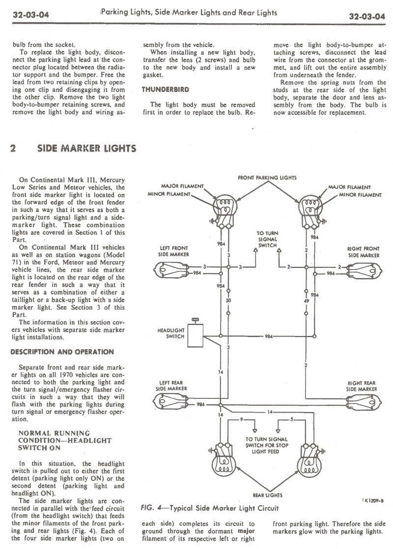 Lamp Wiring Diagram 1970 Mustang Sport Diagrams Ford On Solenoid 70 Mach 1 Marker Lights Rear Light Issue Vintage Forums Rh Com