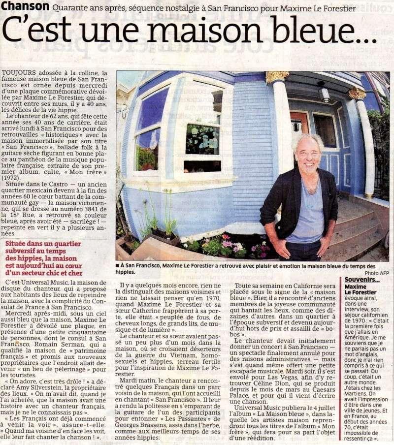 Les news du paf page 13 - C est une maison bleue maxime le forestier ...