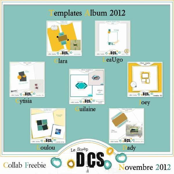 DCS Album Templates de Novembre