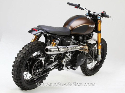 passion f 650 triumph scrambler 900 rumbler par lsl. Black Bedroom Furniture Sets. Home Design Ideas