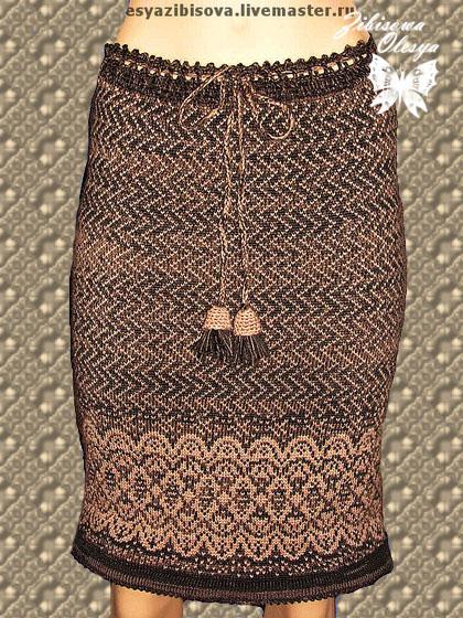 Вязаная юбка с жаккардом