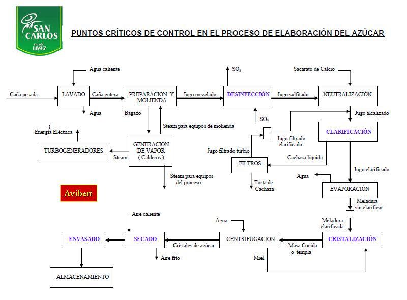 Puntos Críticos de Control en el Proceso de Elaboración del Azúcar