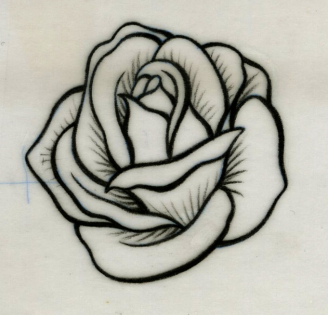 Dessin De Rose Facile