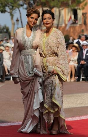 lalla meriem du maroc et sa fille lalla soukaina au mariage du prince