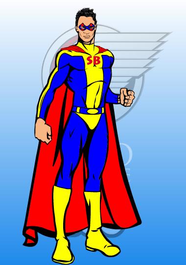 creer un logo super hero