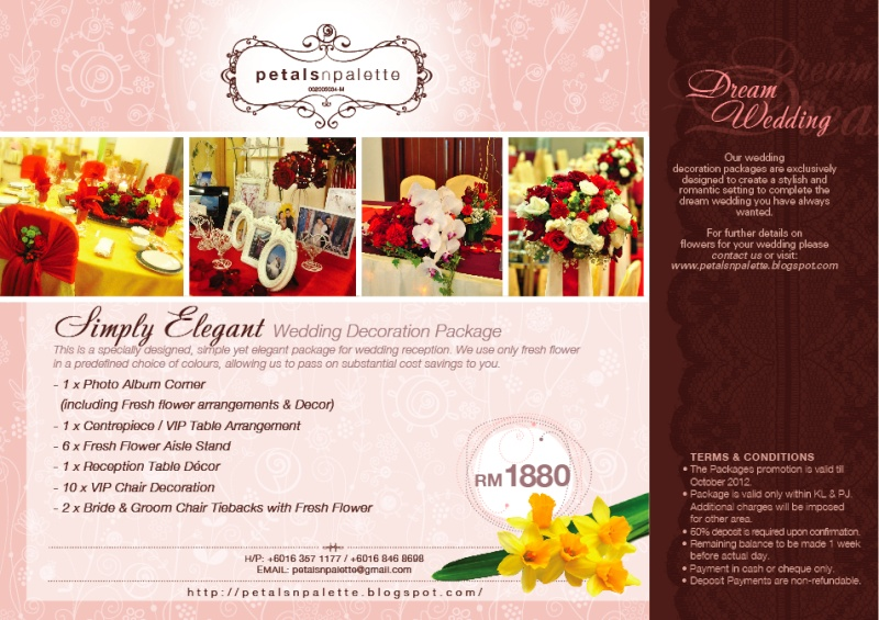 This Is A Specially Designed Simple Yet Elegant Package For Wedding Simple  Elegance Wedding Decor