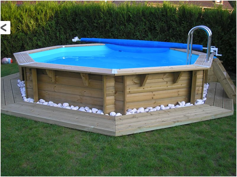 Piscine bois semi enterr e 3m for Piscine en teck semi enterree