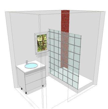 Deux salles de bain refaire en mosa que blanche help for Plan sdb 3d