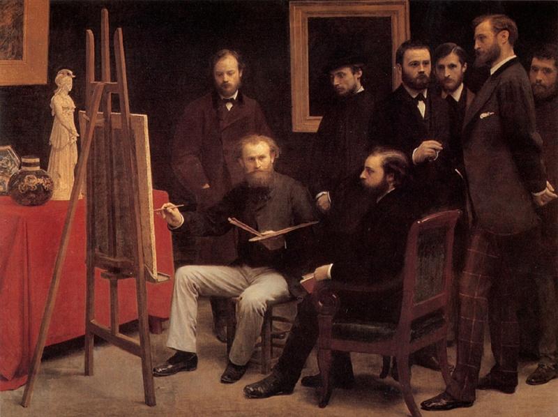 Peinture francaise un mouvement un peintre une oeuvre for Devant le miroir manet