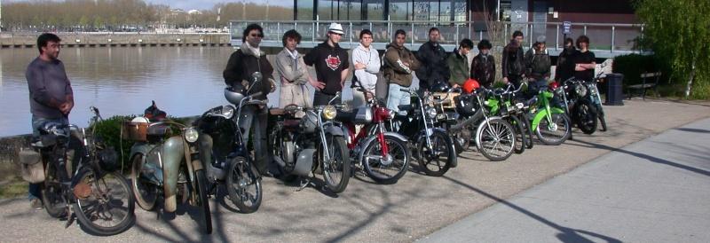 tréteaux de bordeaux, les cyclos et motos anciennes de Bordeaux.