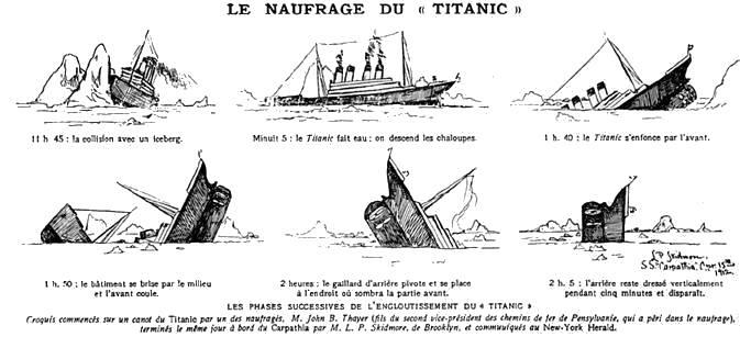 La cassure une th se prouv e page 10 - Dessin du titanic ...