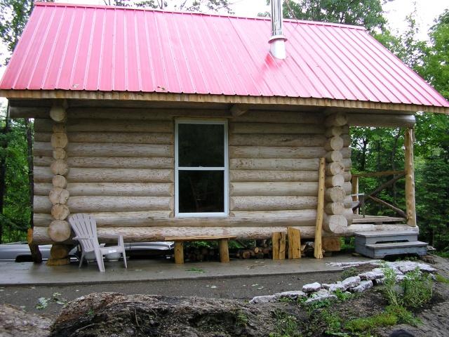 Chalet en bois rond a louer for Camp en bois rond