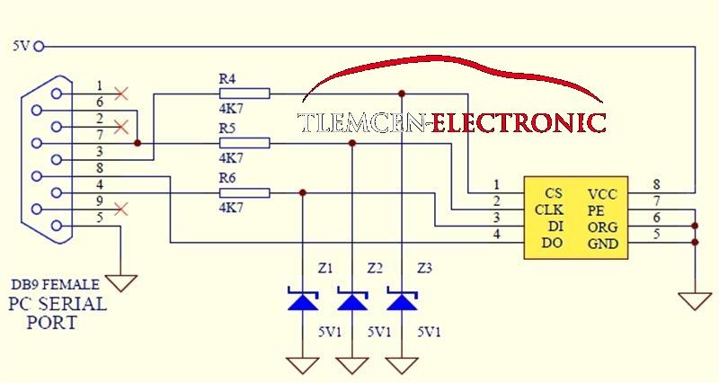 Схема простого программатора для микросхем памяти