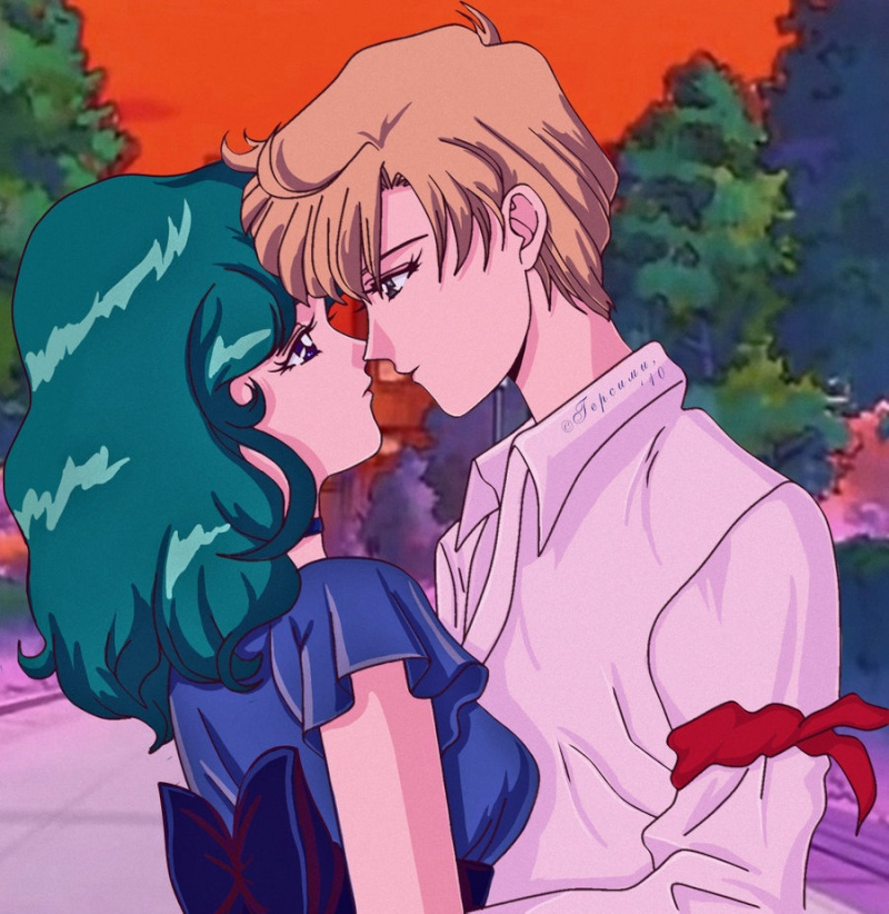 Haruka and Michiru on Pinterest | Sailor Uranus, Sailor ...