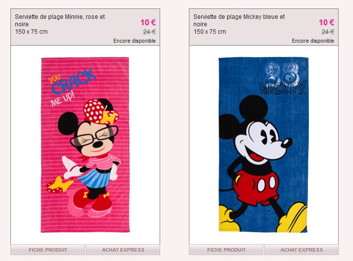 vente priv e serviette de plage disney. Black Bedroom Furniture Sets. Home Design Ideas
