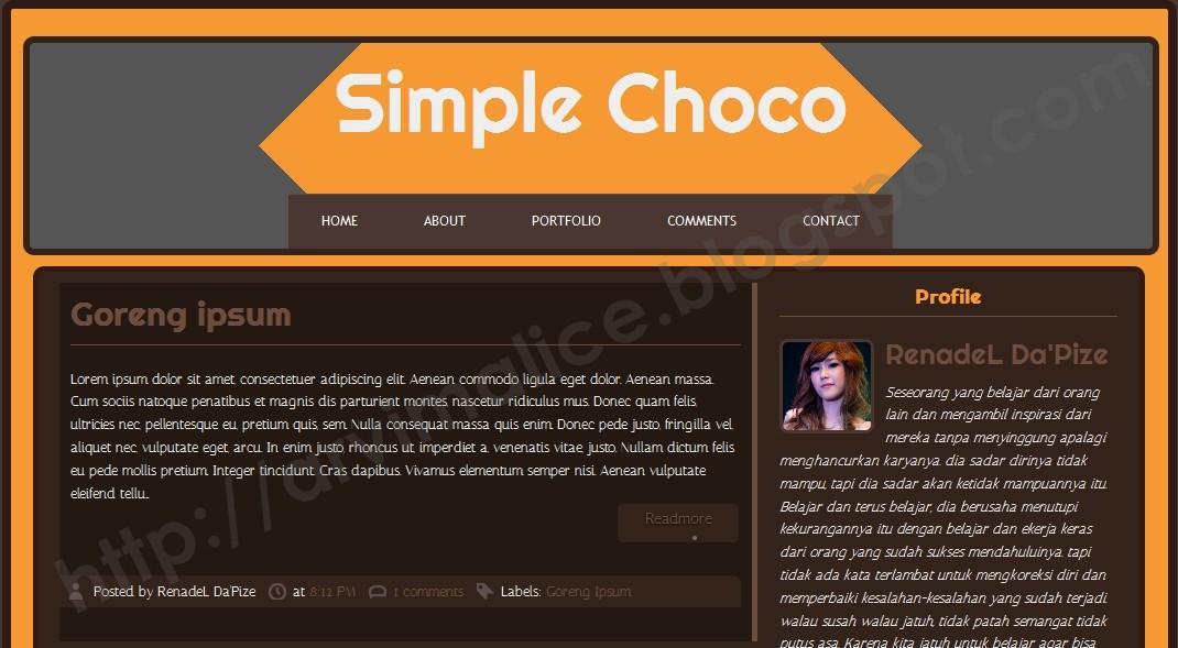 RV Simple Choco Template