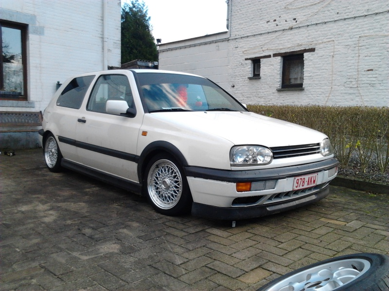 Ma golf 3 german look blanche for Interieur golf 3 vr6