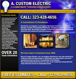 electrician los angeles-A Custom Electric