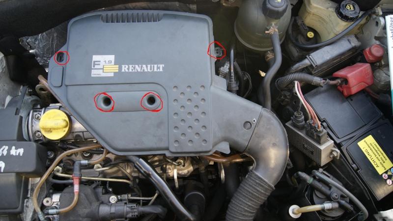 Demontage bloc filtre a air kangoo