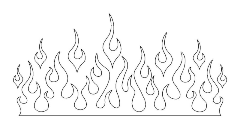 flames10 Traceable Flaming Letters Template on